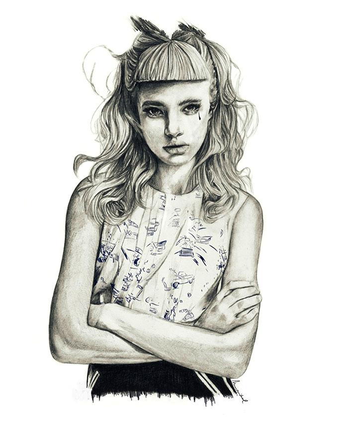 Ilustradora Maribel T Fashion-rebel-ilustracion