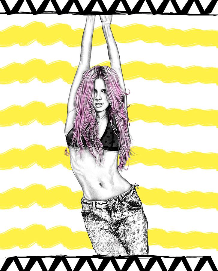 Ilustradora Maribel T Fashion-violette-ilustracion