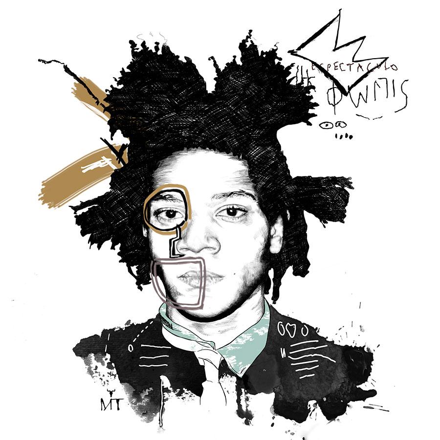 Ilustradora Maribel T basquiat-inspiration-ilustracion