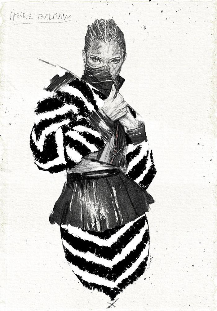 Iustradora Maribel T ilustración Fashion 2