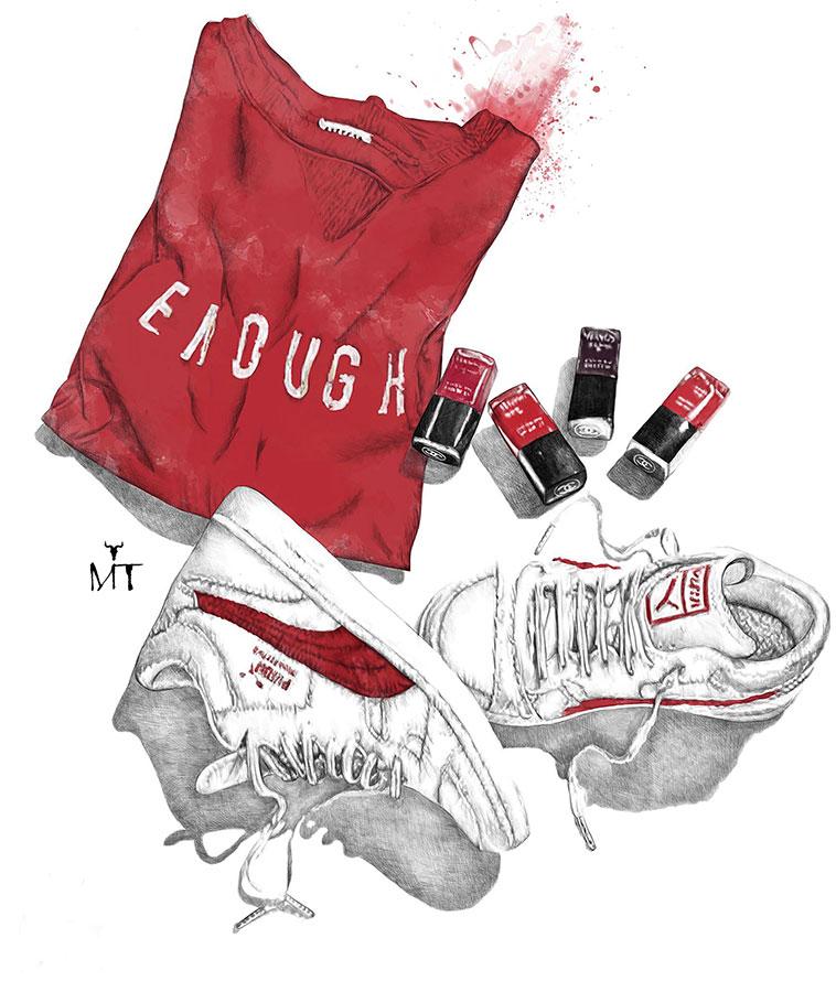 Ilustradora Maribel T puma-shoes-ilustracion
