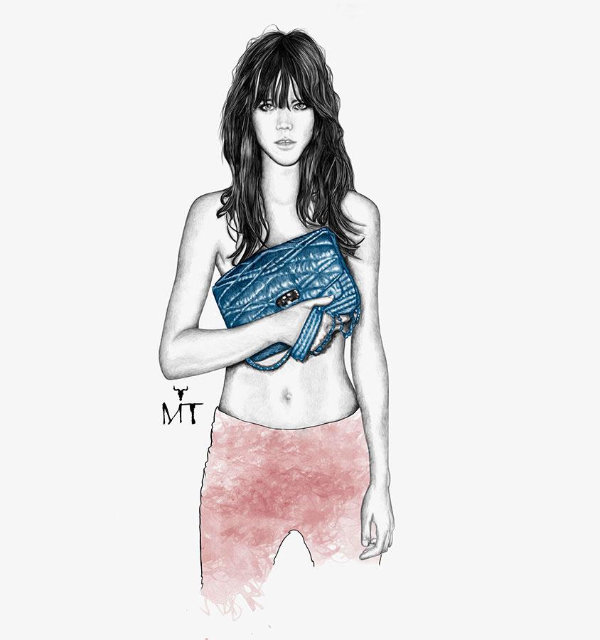 Ilustradora Maribel T zadig-&-voltaire-bag-ilustracion