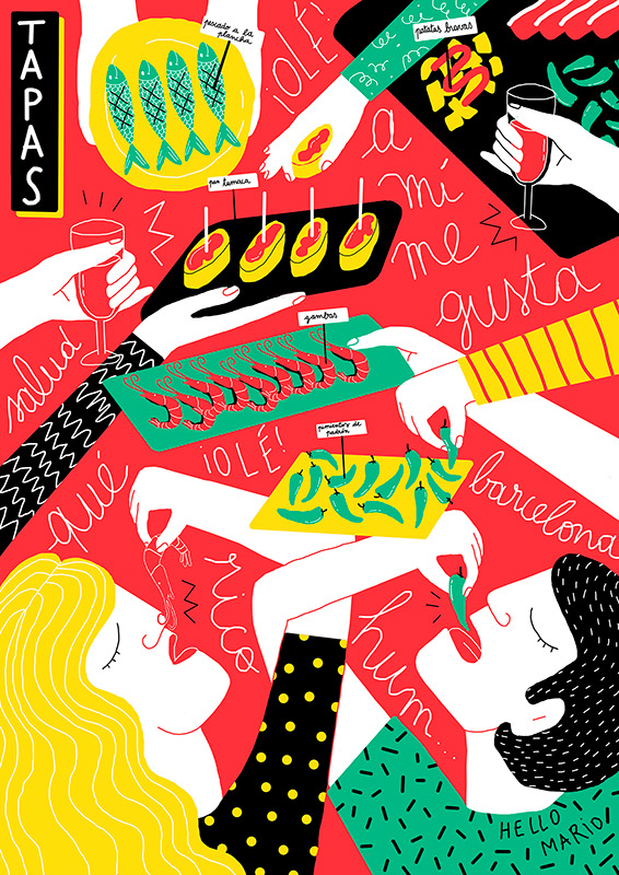 Ilustradora Perrine Honoré, ilustración 01