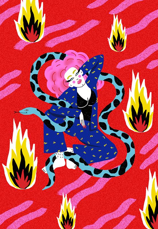 Ilustradora Perrine Honoré, ilustración Fire