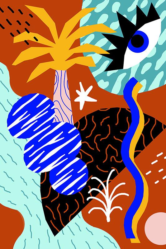 Ilustradora Perrine Honoré, ilustración MOTIF 1