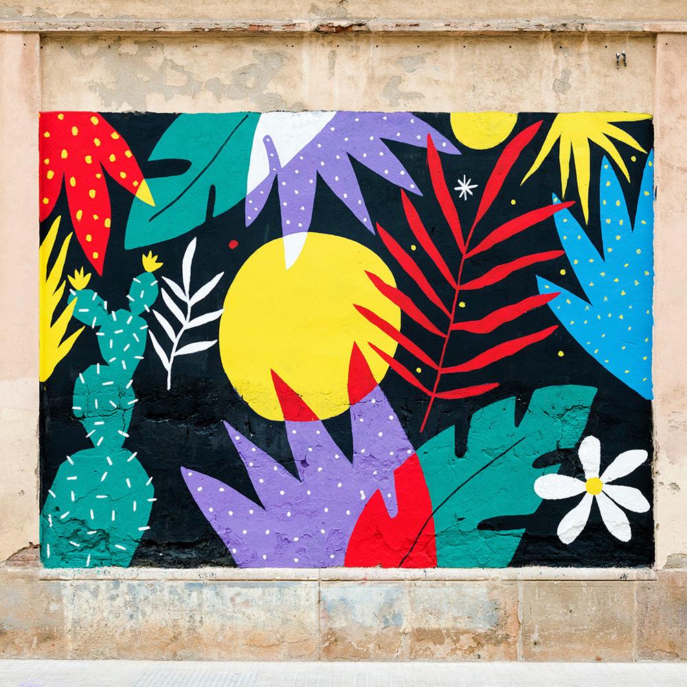 Ilustradora Perrine Honoré, ilustración MURAL 02
