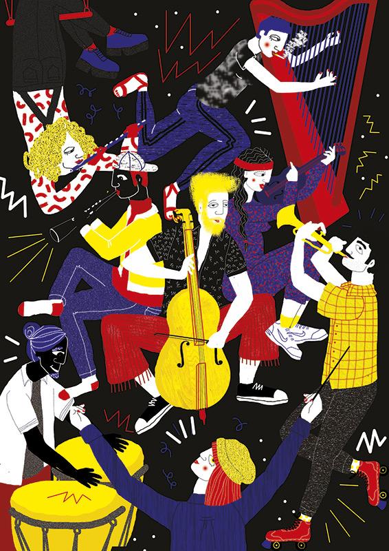 Ilustradora Perrine Honoré, ilustración ORCHESTRA.