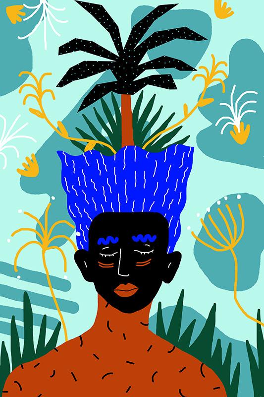 Ilustradora Perrine Honoré, ilustración SIMBIOSIS