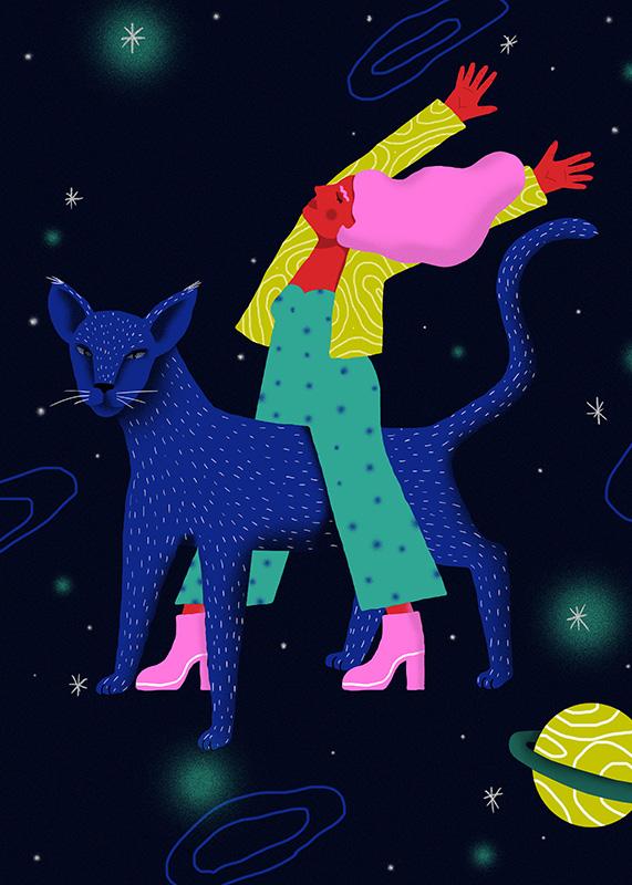 Ilustradora Perrine Honoré, ilustración Space