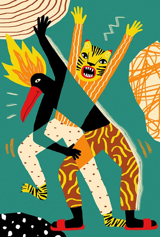 Ilustradora Perrine Honoré, ilustración TOUCANTIGER
