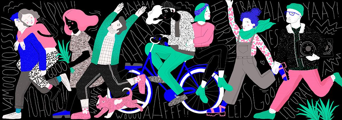 Ilustradora Perrine Honoré, ilustración Vamos