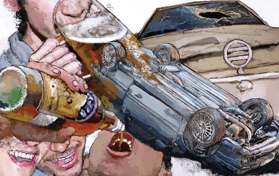 Ilustradora Zita Delaco ilustración Drink Drive