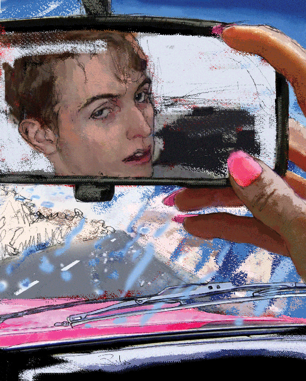 Ilustradora Zita Delaco ilustración Viajero Lluvia