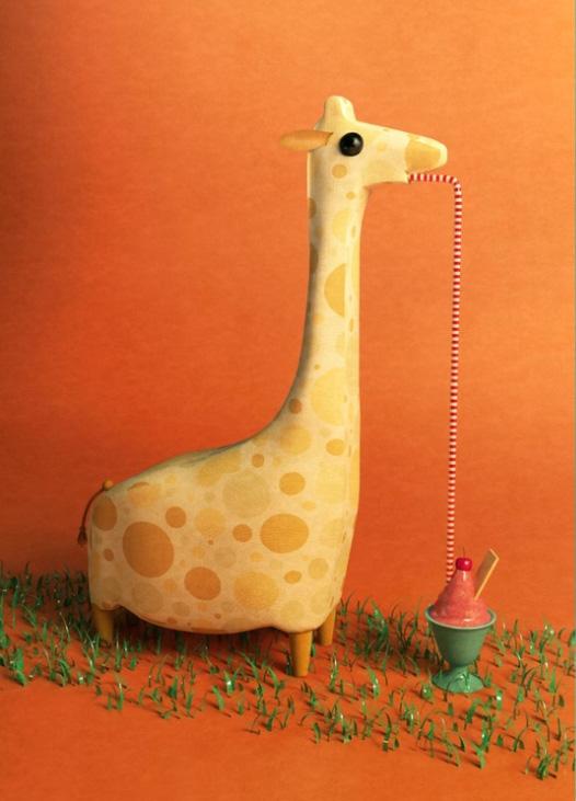 Ilustradores Gaby Thiery, jirafa