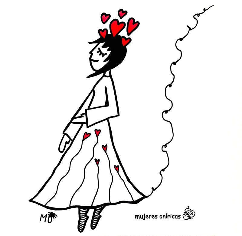 ilustradores mujeres orinicas Corazones