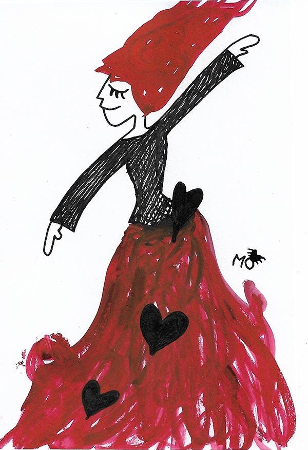 ilustradores mujeres orinicas Lea falda
