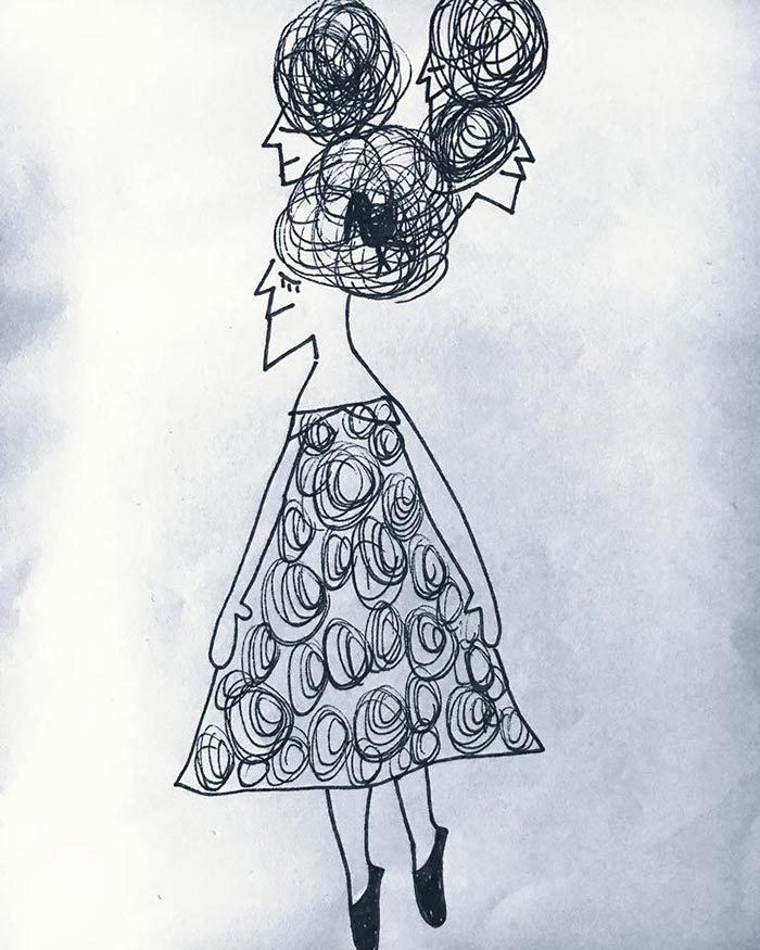 ilustradores mujeres orinicas cabezas