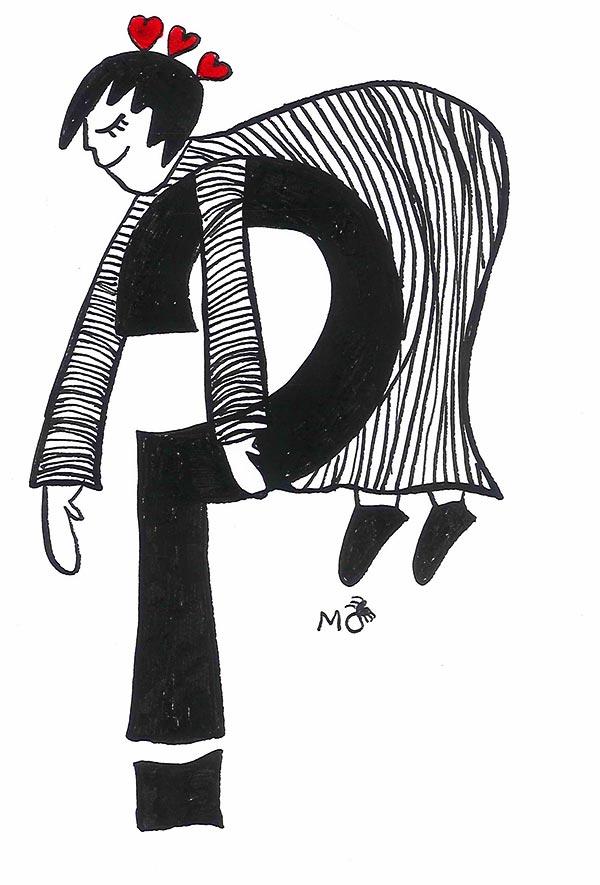 ilustradores mujeres orinicas camiseta interrogación