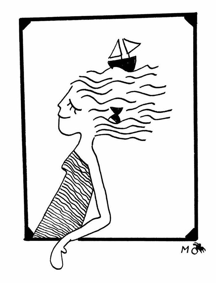 ilustradores mujeres orinicas camiseta mar