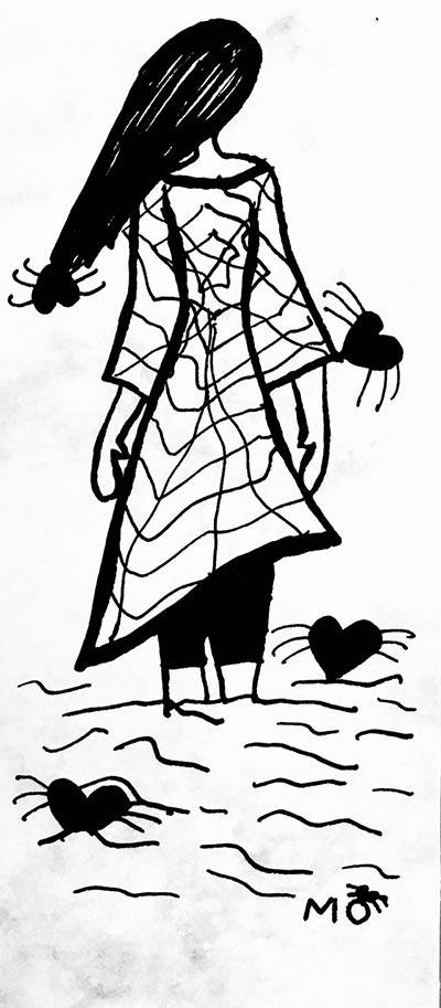 ilustradores mujeres orinicas camiseta san valentin