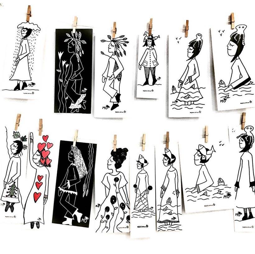 ilustradores mujeres orinicas cartones pluma