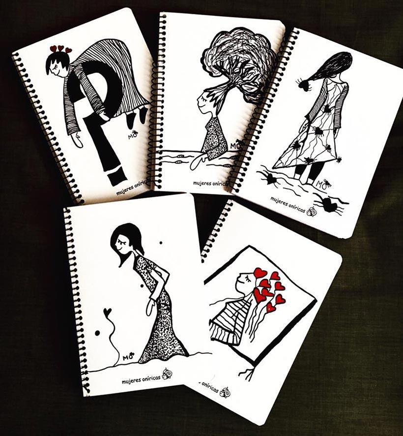 ilustradores mujeres orinicas cuadernos espiral