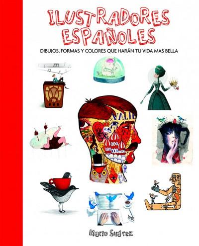 """Portada del libro """"Ilustradores españoles"""" de Mario Suarez"""