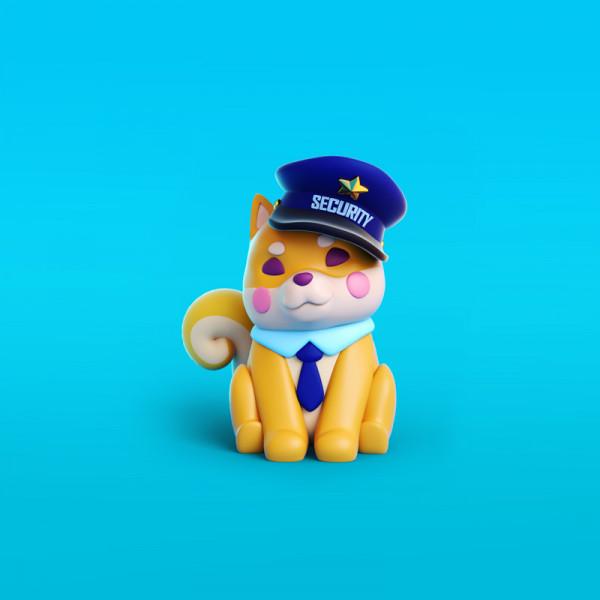 Pato policía ilustración en 3D