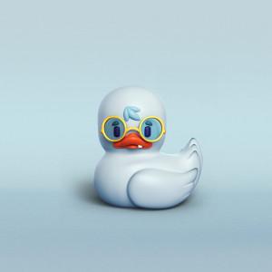 Pato feo ilustración en 3D