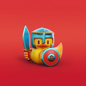 Pato guerrero ilustración en 3D