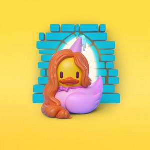 Pato princesa ilustración en 3D