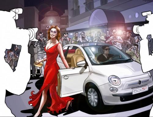 Eduardo Simón realiza los bocetos del spot de lanzamiento FIAT Cinquecento Cabrio