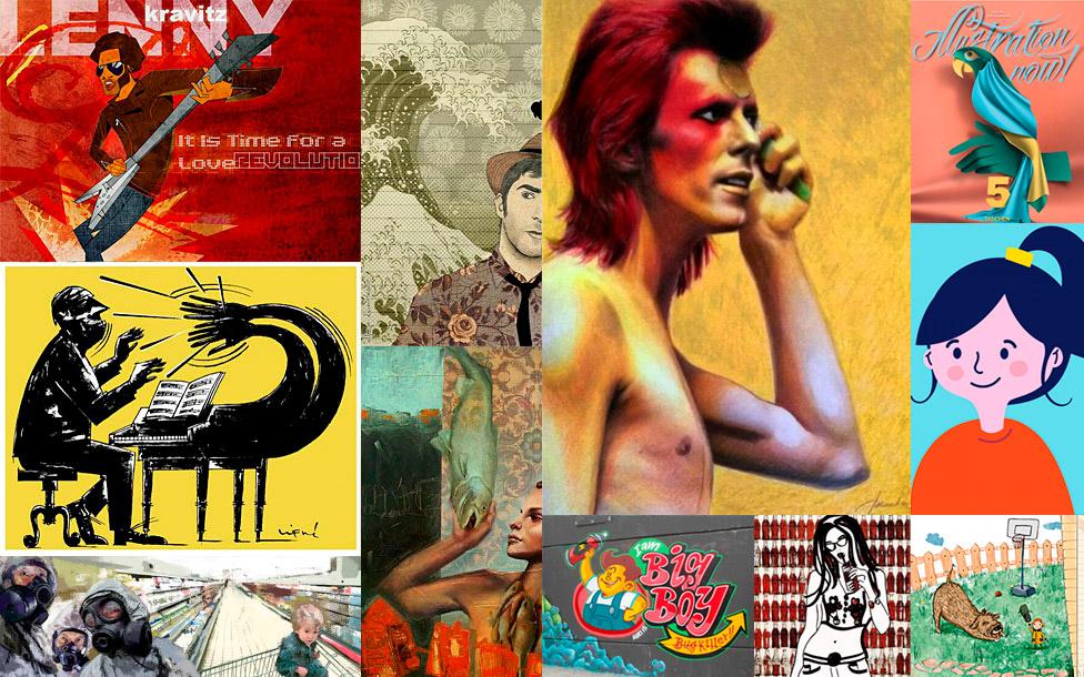 Trabajos de ilustradores españoles
