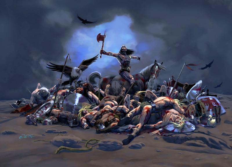 Ilustrador Vicente Fernández, ilustración bloody battle