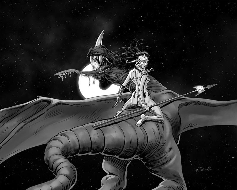 Ilustrador Vicente Fernández, ilustración dragona