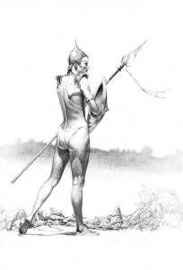 Ilustrador Vicente Fernández, ilustración nenya the guardian