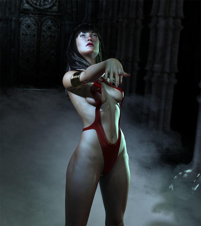 Ilustrador Vicente Fernández, ilustración vampirella