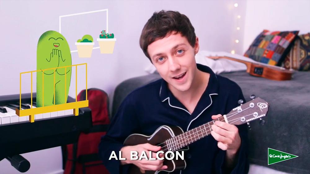 """Fotograma del vídeo de la canción de David Rees """"Hora de soñar"""", las ilustraciones han sido realizadas por la ilustradora Joëlle Carreño."""